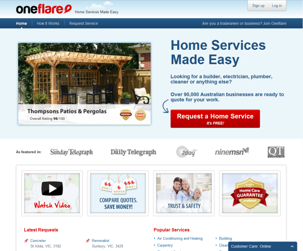 Oneflare has acquired Australia's largest online renovation community, Renovate Forum